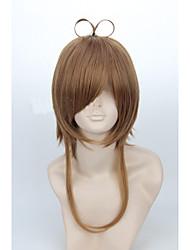 angelaicos card captor mujeres Kinomoto Sakura Sakura chan chica corto marrón de halloween traje de cosplay peluca