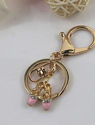 Fashion Unisex Shining Drip Glaze With Diamond Shoes Pendant Keychains