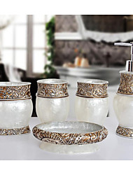 The Isabel Pattern Bathroom Ware 5 Sets/White