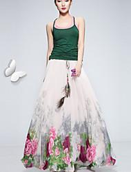 Women's Dresses , Chiffon Print ORG