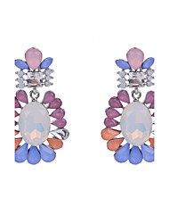 Hot Sale Fashion Charm Women Bijoux Colorful Resin Silver Plated Dangle Earrings Jewelry For Party