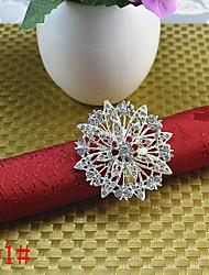 6pcs Flower diamond napkin ring