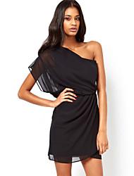 Women's Dew Shoulder Chiffon Dress