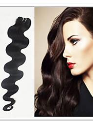 """3pcs / lot 8 """"-30"""" brasilianische reine Haarfarbe (natürliche schwarz) Körperwelle"""