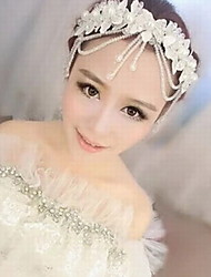 Women's Lace Imitation Pearl Acrylic Silk Headpiece-Wedding Special Occasion Head Chain 1 Piece