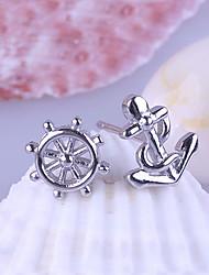 kiki 925 orecchini d'argento indossare piatto.