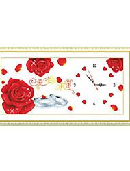 fleur Meian point de croix 80 x 43 x 1 cm