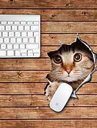 o mouse pad decorativo projeto do gato