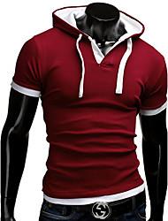 Katoen/Polyester - Print/Effen - Heren - T-shirt - Informeel - Korte mouw