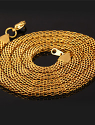TopGold New Popcorn Link Chain 18K Chunky Gold Plated 316L Stainless Steel Necklace for Men Women High Quality 6MM 55CM