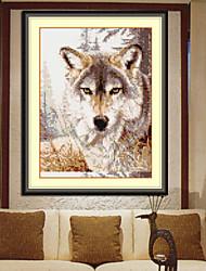 cão kits bordados à mão vivendo diamante quarto ponto da cruz de decoração para casa parede bordados 28 * 31 centímetros