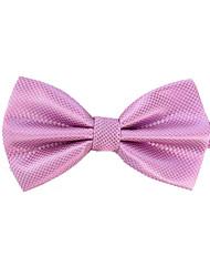 Men's Classic Plain Colour Light Purple Bowtie