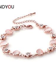 Women's Charm/Chain/Tennis Bracelet Cubic Zirconia/Alloy/18K Gold Plated Opal/Crystal/Cubic Zirconia
