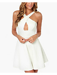 PEARL Women's Sexy/Casual/Party Straps Sleeveless Dresses (Cotton)