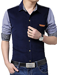 Men's Fashion Spell Slim Long Sleeved Shirt