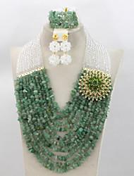 Terrific African Beads Jewelry Set Nigerian Beads Necklace Jewelry Set Costume Jewelry Set