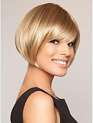 topkwaliteit blonde kleur korte rechte synthetische pruiken