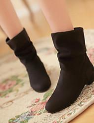Damesschoenen - Platte schoenen ( Canvas/Lakleer , Zwart/Blauw/Rood )met Platte hak - 0-3cm