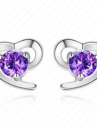 Women' Sterling Silver Earrings with Zircon CZ0003E