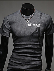 Herren Freizeit/Büro T-Shirt  -  Druck Kurz Baumwollmischung