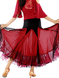 High-quality Milk Fiber with Pleated Ballroom Dance Skirts for Women's  Performance/Training(More Colors)