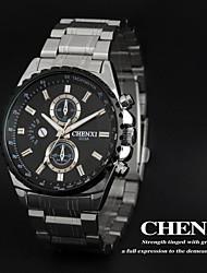CHENXI® Men's Sports Design Dress Watch Japanese Quartz Water Resistant Silver Steel Strap Cool Watch Unique Watch