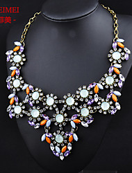 Korean version of the new high-grade alloy diamond jewelry sweater chain necklace exaggerated female jewelry