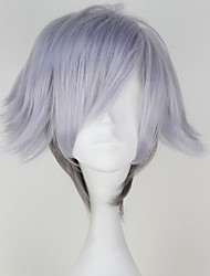 Death Parade Decim Men's Short Straight Silvery and Grey Color Wig Anime Cosplay Wig