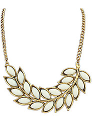 The new combined Jin Boxi mia leaves short necklace