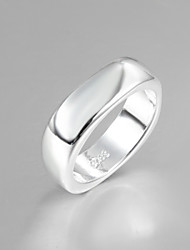 2016 Fashion Luxury Simple Square Sterling Silver Band Ring For Women