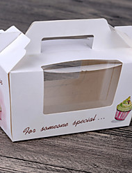 Two Cup Cake Box Packaging (Set of 6)
