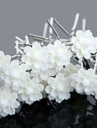 20pcs Flower U Shape Flower Wedding Headpieces Hairpins