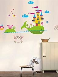 стикеры стены наклейки на стены, кит замок наклейки стены PVC