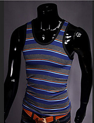 Men's Fashion Stripe Slim Elastic Vest