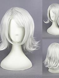 16inch kurze lockige silber weiß tokyo Ghul-juzo Suzuya / rei synthetischen Anime Cosplay Perücke