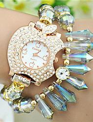 European Style Fashion Rhinestone Crystal Trend Bitten Apple Watches