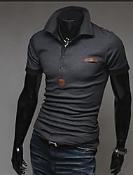 Johnny Men's Casual Shirt Collar Short Sleeve T-Shirts