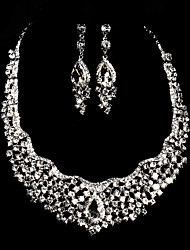 Ladies' Rhinestone Wedding Jewelry Set