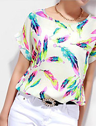 Women's Chiffon Batwing Sleeve Tops Blouse T-Shirt
