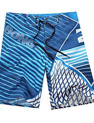 de secagem rápida respirável calções de praia verde poliéster impressão / azul / vermelho homens