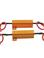 carro universal LED protector resistor de carga para liderada 8ohm lâmpada-50w (2pçs)