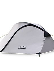 Hewolf Moistureproof Waterproof Polyester One Room Tent for 2-3 Person 1579 Gray