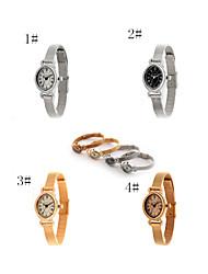reloj de cuarzo retro romano brazalete de acero reloj para las mujeres