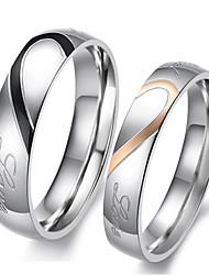 Couple de Bagues ( Acier inoxydable ) Mariage/Soirée/Quotidien