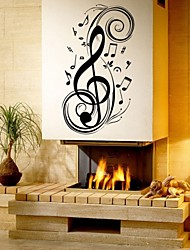 Music Fashion Shapes Wall Stickers Plane Wall Stickers Decorative Wall Stickers Material Removable Home Decoration Wall Decal