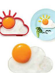 Sun Cloud Shape Egg Ring for Breakfast, Egg Mold Cooking Tools, Silicone, L10*W8*H1.2cm