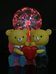 Romantic couples teddy bear electrostatic resin magic ball Creative gifts