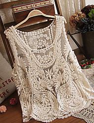 xiaohua  Women's Sexy/Beach/Casual/Lace Sleeveless Coats & Jackets (Lace)