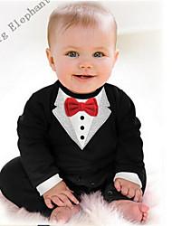 Big Elephant 1pcs Cotton Baby Boys Clothes Romper Jumpsuit Sets Outfits For Newborn 3-24M R72 Black