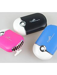 ovalada 5v usb de carga portátil mini ventilador móviles de aire acondicionado (color clasificado)